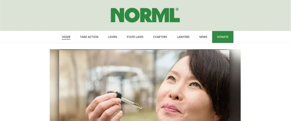 『NORML(The National Organization for the Reform of Marijuana Laws )』の記事ページ